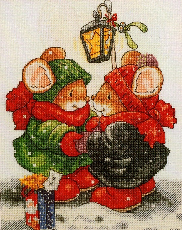 Mais de 50 Ideias Para Decorar No Natal. ratinhos Em Ponto Cruz Com Diagramas