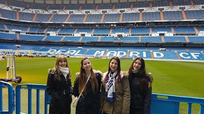 Estadio Santiago Bernabéu en familia