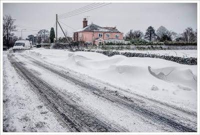 ©DerekAnson2018, little Clacton, Essex, snow drifts, beast from the east, photographer, winter weather,
