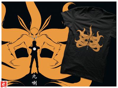 naruto+kyubi kurama+tshirt+buy+online+cool