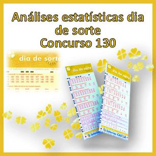 Estatísticas dia de sorte concurso 130 análises das dezenas