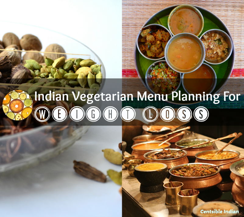 Indian Vegetarian Menu Planning For Weight Loss - End of Sept 2014 -