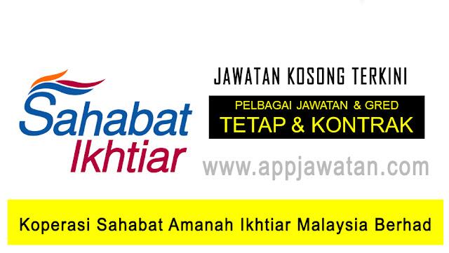 Jawatan Kosong di Koperasi Sahabat Amanah Ikhtiar Malaysia Berhad