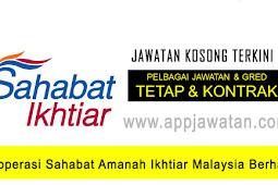 Jawatan Kosong di Koperasi Sahabat Amanah Ikhtiar Malaysia Berhad - 24 November 2018