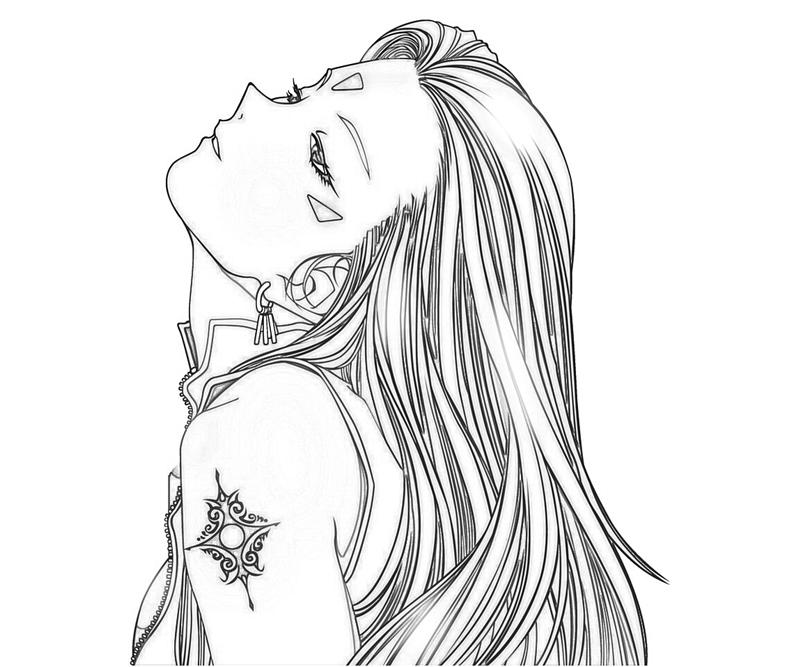 hairstyle coloring pages - urd hairstyle surfing