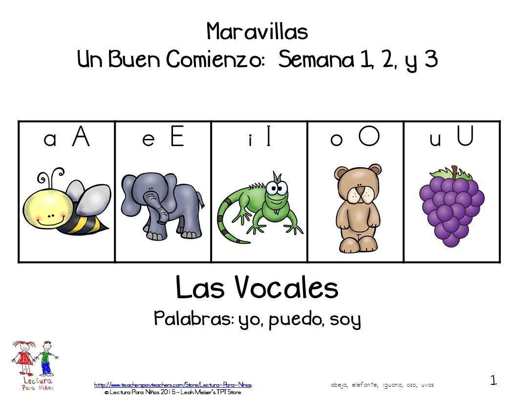 Mommy Maestra Free Booklet For Vowel Recognition In Spanish