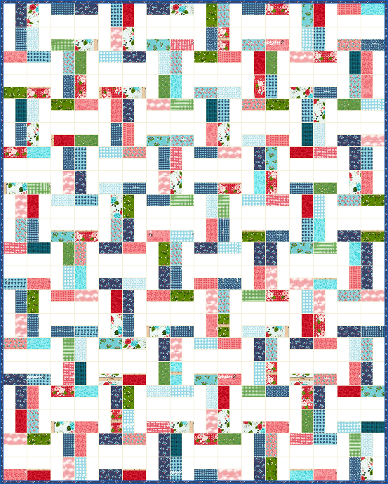 Free Quilt Patterns Using Jelly Roll Strips : Lets Quilt Something: Interlock - Free Quilt Pattern - Jelly Roll