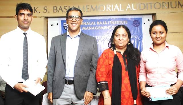 'Mrs. Jyothi Dadhvydi Memorial Scholarship' for Hazana and needy students by Jamnalal Bajaj Institute of Management Studies