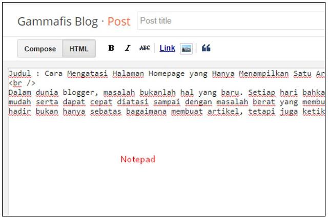 Cara Mengatasi Halaman Homepage yang Hanya Menampilkan Satu Artikel Saja