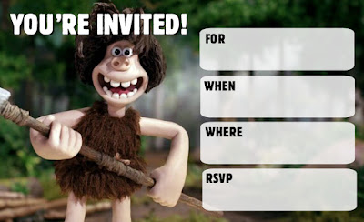 Early Man free birthday printables