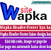 Wapka website Header-Footer ko use kare aur content automatic show kare.