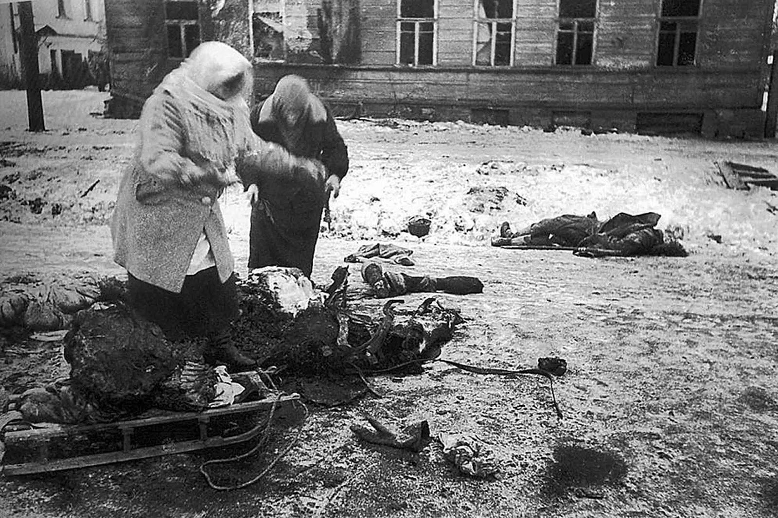Economic destruction and human losses in Leningrad on both sides exceeded those of the Battle of Stalingrad, the Battle of Moscow, or the atomic bombings of Hiroshima and Nagasaki.
