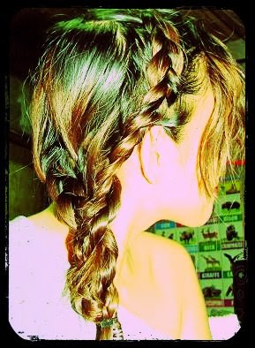 Triple Messy Dutch Braid