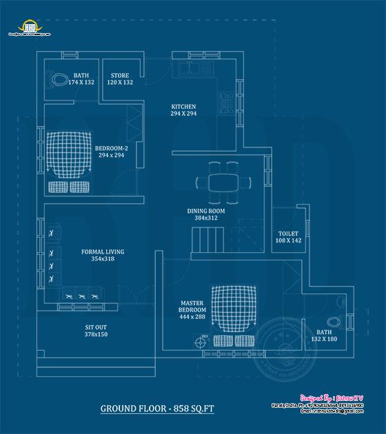 Ground floor plan blueprint