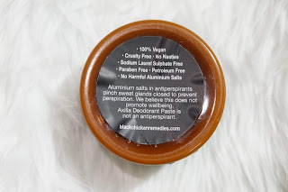 Effective Black Chicken Remedies' Axilla Natural Deodorant Paste Review