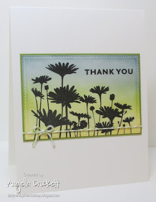 Stampin Up Upsy Daisy, ODBD Custom Pierced Rectangles Dies, Card Designer Angie Crockett