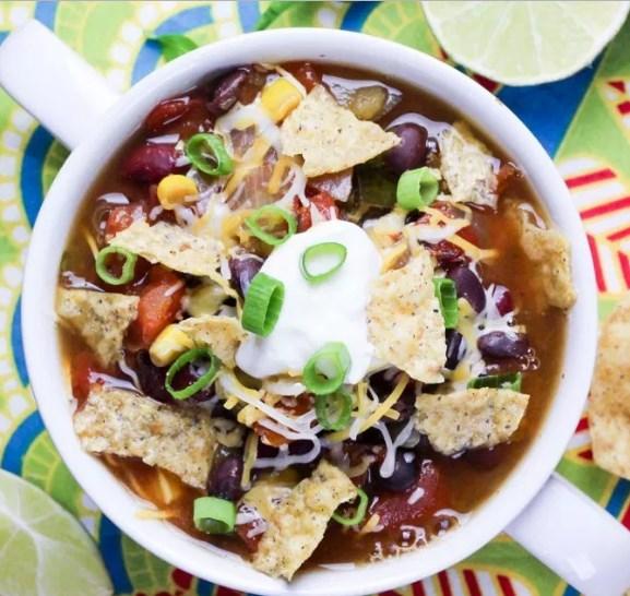 Vegetarian Crock Pot Taco Soup
