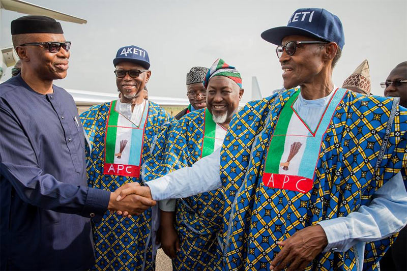 Ondo 2015: Tinubu absent as Buhari, Saraki, Oyegun, others campaign for Akeredolu (photos)