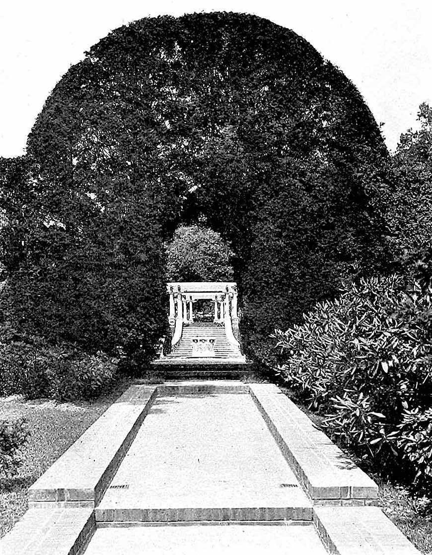 a photograph of a 1915 pergola