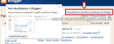 Editar HTML do Template na nova interface do Blogger