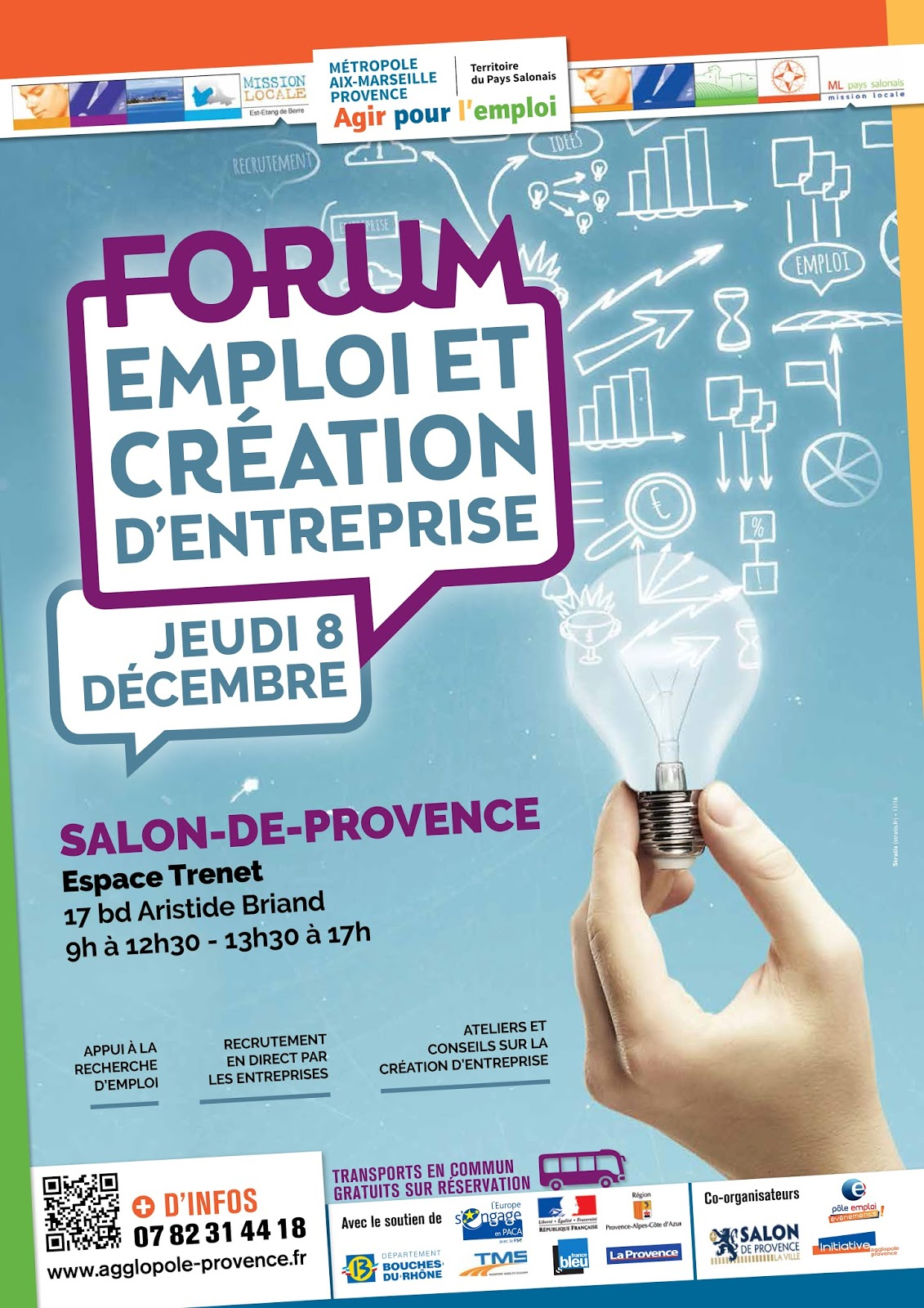 Forum emploi cr ation d 39 entreprise 8 d cembre 2016 salon for Mission locale salon de provence