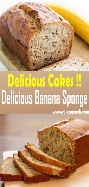 Delicious Banana Sponge