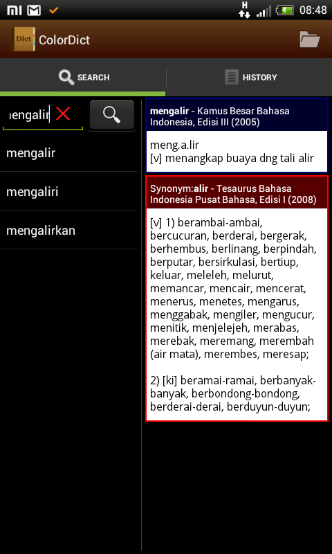 Moon+Reader Terintegrasi Kamus Offline English-Indonesia [Colordict]