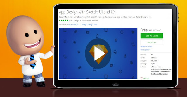 [100% Off] App Design with Sketch: UI and UX| Worth 50$
