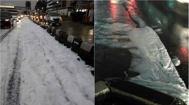 Dikira Salju, Putih-Putih di Jalanan Jakarta Ternyata...