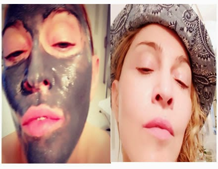 Madonna Postea Selfie Con Mascara