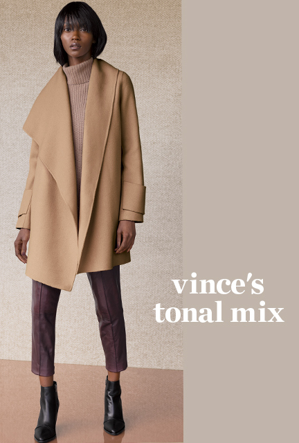 "High Heels in the Wilderness"" Crazy for Camel. Vince camel coat"