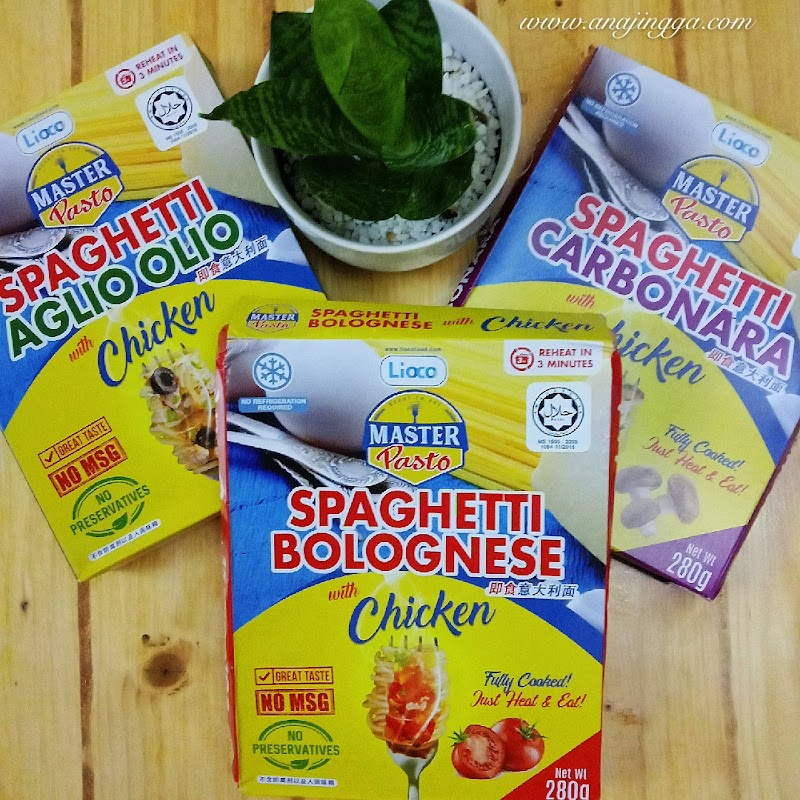 MASTER PASTO - Spaghetti Ready To Eat  Di Mana-mana dan Bila-bila Masa