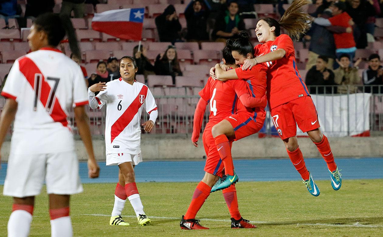 Chile y Perú en partido amistoso femenino, 28 de mayo de 2017