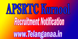 APSRTC Kurnool Driver Recruitment Notification 2016