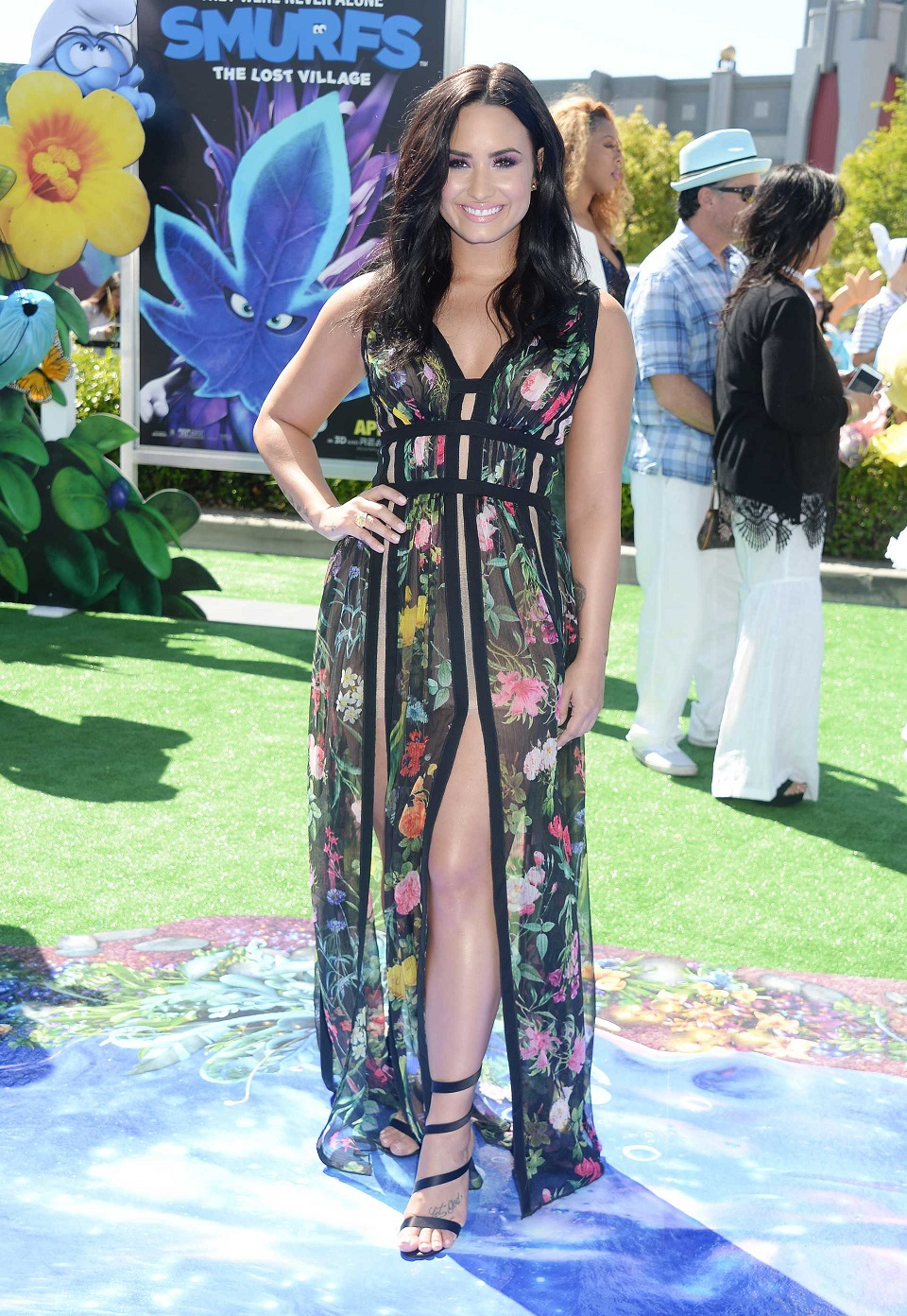 Demi Lovato flaunts endless legs at the Smurfs: The Lost Village premiere in LA