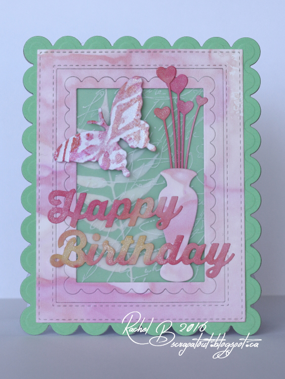 Scrapatout - Handmade card, Birthday, Impression Obsession, Butterfly