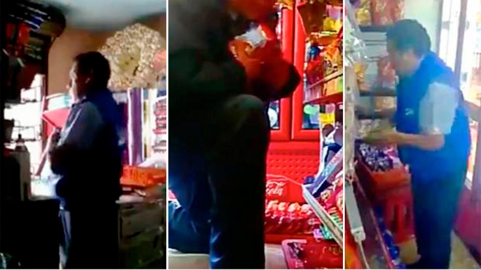 Difunden más videos de robos de repartidores de Bimbo a tienditas (VIDEOS).
