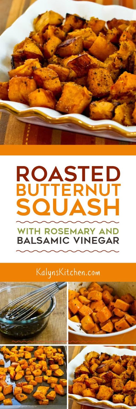 Roasted Butternut Squash With Rosemary And Balsamic