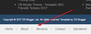 Como criar menu navegação no rodapé do Blogger