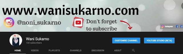 banyak lagi hala tuju dengan youtube, syukurlah subscribers makin meningkat