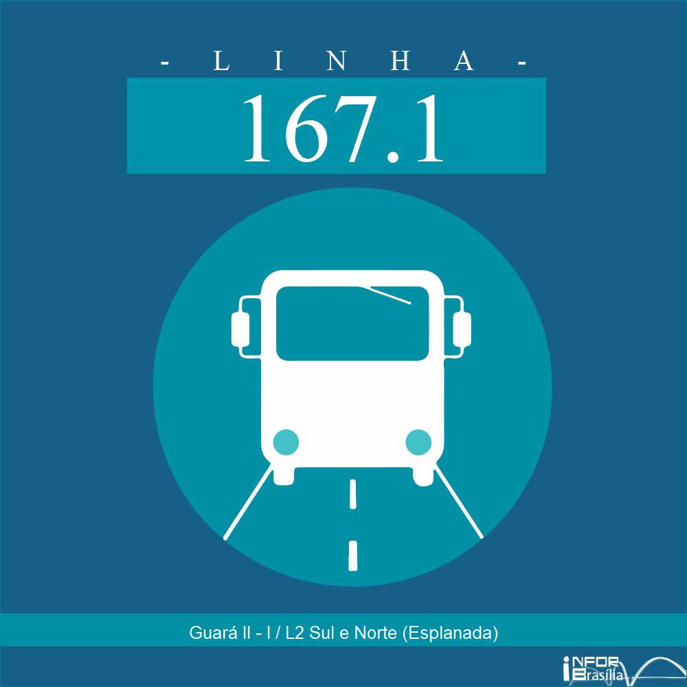 Horário de ônibus e itinerário 167.1 - Guará II - I / L2 Sul e Norte (Esplanada)