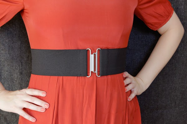 cinturón, gomas elásticas, costura, labores