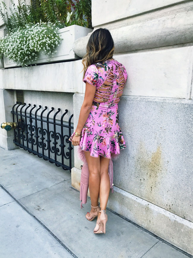 Pink Peplum Dress, Fall Pink Dress, Style Steal Pink Dress, What to Wear to Fashion Week
