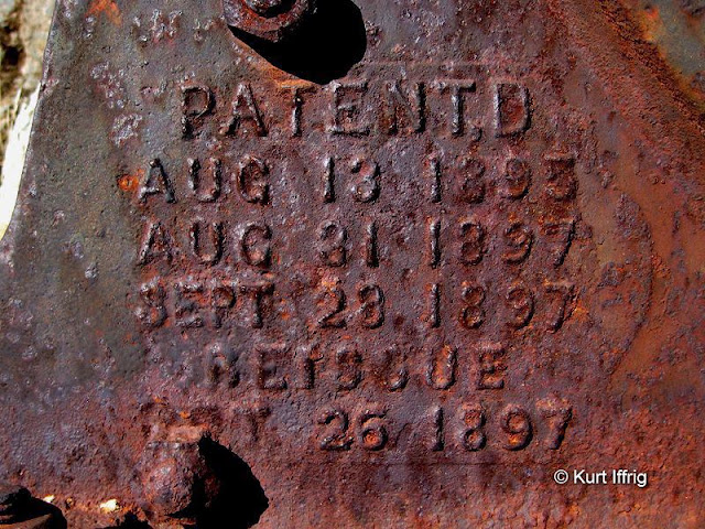 One artifact at Coquina Mine has patent stamps dating back to the late 1800s.