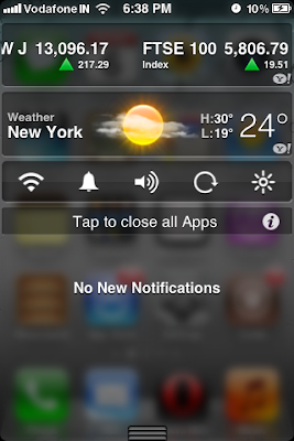 transparent notification center iphone