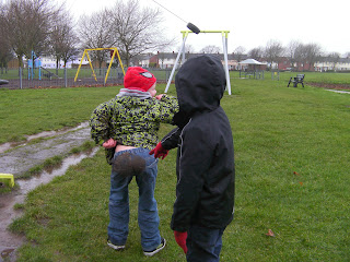 slippery mud in gosport zipline swingpark