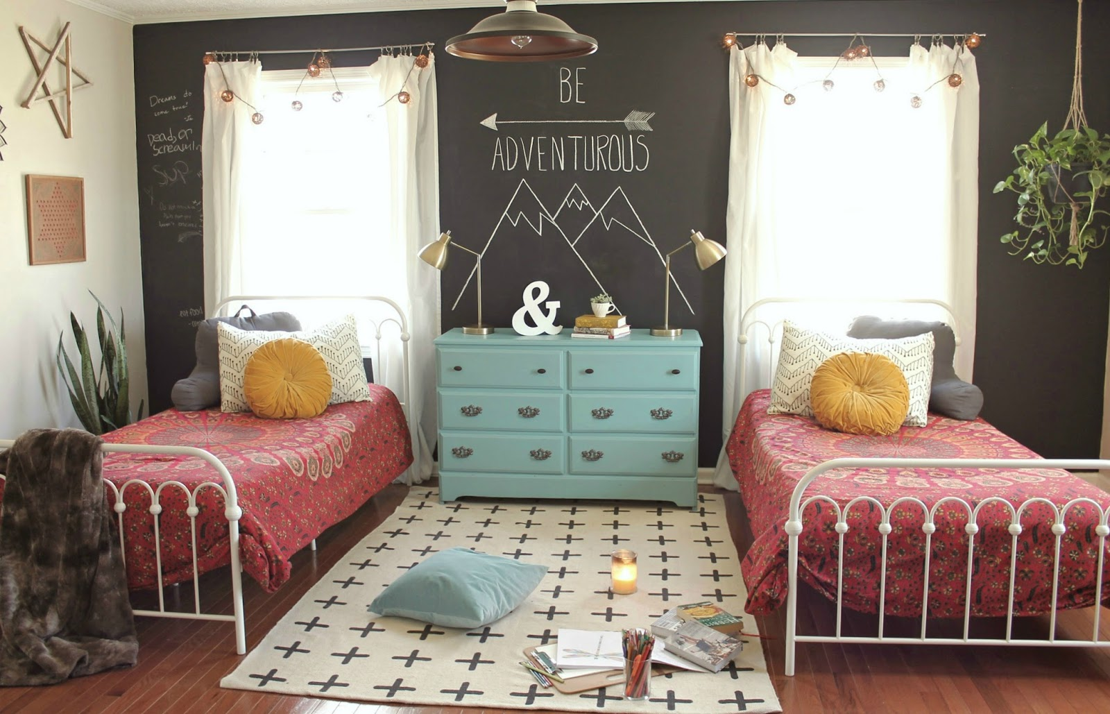 The little farm diary teen girls 39 room reveal a boho for Room makeover