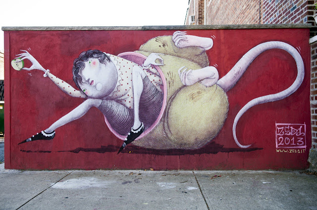Street Art By Italian Artist ZED1 on the Streets of New York City, USA. 2