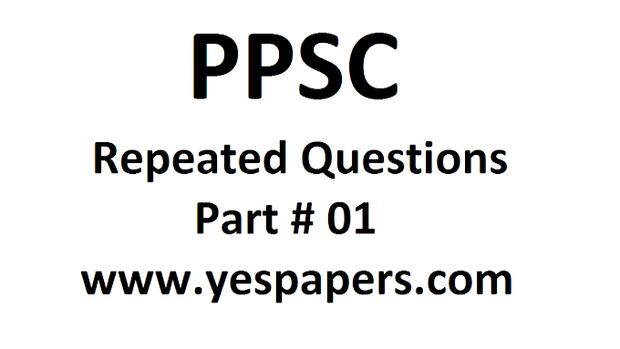 PPSC Important Questions Part#1