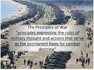 The Principles of War are the principles expressing the rules of military thought and actions that serve as the permanent basis for combat doctrine.